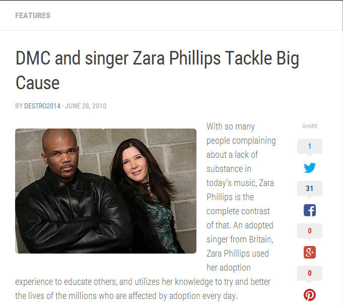 DMC and singer Zara Phillips Tackle Big Cause