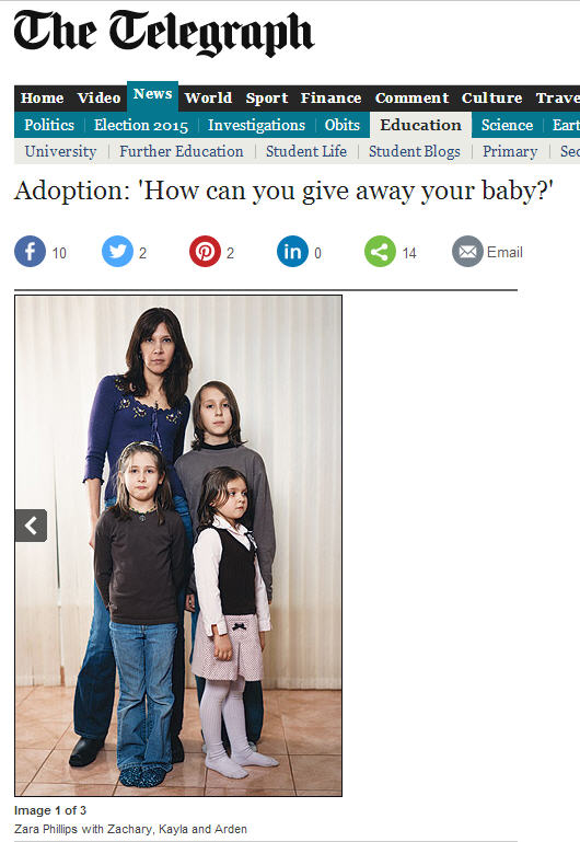 Adoption: 'How can you give away your baby?'